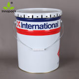 5 Gallon Printed Metal Tin Paint Bucket with Flower Edge Lid
