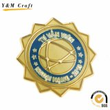 Custom Metal Souvenir Lapel Pin with Color Filled (Q0010)