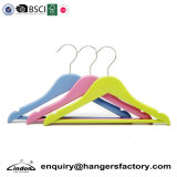 Wholesale Colored Short Wood Children/Baby Hanger for Kids