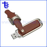 Wholesale 8GB Leather USB Flash Memory for Gift