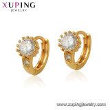 Hoop Shaped Unique Latest Design 18K Gold Wholesale Cheap Zircon Earrings Jewelry