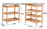 High Quality Bamboo Trolley with Multi Function for Luggage Tray