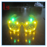 Halloween Customed LED Glowing Pumpkin Glasses
