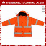 Wholesale Winter Orange Workwear Reflective Jackets (ELTSJI-21)