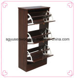 Low Price Melamine Shoe Cabinet Three Door Shoe Cabinet