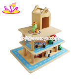2018 New Funny Toy Wooden Kids Car Garage for Play W04b053