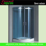 Blue Glass Simple Popular Simple Sliding Shower House (TL-521)