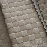 Embossed Velvet Grid Pattern 100% Polyester for Sofa Covers