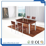 Poly Wood MDF Table Top 4 Seater Outdoor Furniture Rattan Dining Set