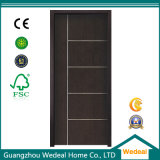 Modern Simple Flush MDF Interior PVC Laminated Wooden Door for Projects Worldwide