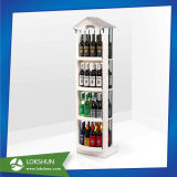 Removable 4 Tiers Wood Beverage Drinks Display Showcase