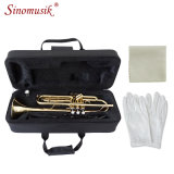High Quality Golden Trumpet for Sale Bb Tone Brasswind Instrument