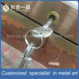 Customized Rose Gold SUS304# Wine Display Rack with Glass Door