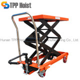 500kg Hand Manual Trolley Hydraulic Mechanical Double Scissor Lift Table Pts500A Wholesale