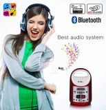 MP3 Player Wireless Bluetooth Speaker with Solar Rechargeable Battery LED Lamp FM Radio Power Bank