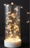 Glass Material Middle Size LED Christmas Decorative Light with Pearl Inside