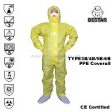 Disposable Virus Protection Type 3b/4b/5b/6b Protective Chemical Coverall