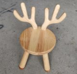 Solid Wood Cute Animal Shape Chair with Backrest Sturdy Children Chair