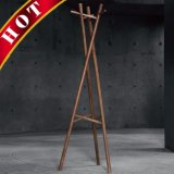 Beech Coated Portable Wooden Cloth Coat Clothes Rack