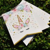 Glitter Unicorn Happy Birthday Banner Baby Shower Paper Flags Birthday Party Decorations Kids Unicorn Party Suppilies