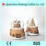 Christmas Lighted Snow Globe Resin Holiday Water Globe Decoraiton