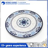 Eco-Friendly Full Size Round Melamine Dinner Food Plate