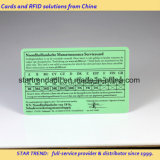 Medical Card PVC Card with Signature for Hospital