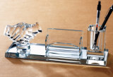 Factory Wholesale Glass Pen Holder Office Stationery Gift Crystal Craft
