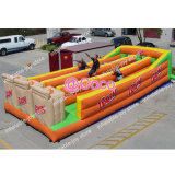 11*5m Inflatable Bungee Run Game, 3 Players Bungee Run, Outdoor Team Building Activities with Basketball