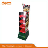 Cheap Four Tier Shelves Cardboard Floor Display