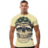 Custom T-Shirt with 3D Sublimated Printing Skulls Patterns