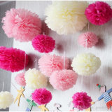 Artificial Handmade Paper Flower Ball Tissue Paper Flowers POM POM
