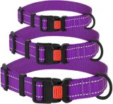 Dog Collar with Buckle Adjustable Safety Nylon Collars for Dogs