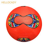Hellocady Official Size 5 Team Outdoor Inflatable Colorful Pebble Surface Rubber Soccer Ball