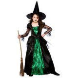 Spider Witch Fancy Dress Costume Girl Party Supply Kids Halloween Costumes