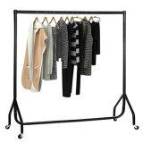 4FT Garment Clothes Rail Super Heavy Duty All Metal Black