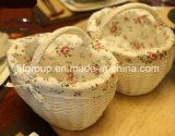Super Quality Customized White Wicker Storage Basket with Liner