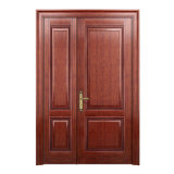 Oppein Wood Composite Unequal Double Interior Wooden Entry Door (MSJZ05)