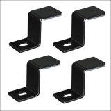 Heavy Duty Sheet Metal Stamping Mount Wall Shelf Angle Metal Fabrication Brackets