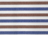 Brown/Navy Stripes Comfortable Yarn Dyed Fabric Shirting