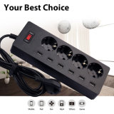 4 AC Power Sockets & 6 USB Power Strip Adapter