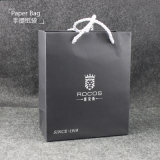 Simple Style Black Paper Packing Bag with Handle