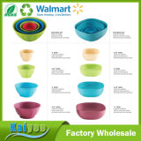 Wholesale Colorful Going Green Round Salad Bamboo Fiber Bowl