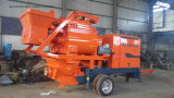 Mobile Movable Trailer Diesel Concrete Pump with Mixer