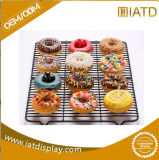 Pop up Moving Chrome Wire Storage Supermarket Wall Display Book Shelf for Cake/Dessert/Bread/Fruit/Bakery/Candy/Bowl