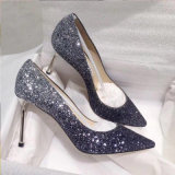 Gradient Color High Heels Slip on, 3D Sparkling Glitter Dress Shoes Pointed Toe Women Pumps Formal Shoes Wedding Shoes Sexy Stiletto Fashion Shoes Esg14068