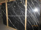 Black Marquina Marble Slab or Tile for Bathroom Floor