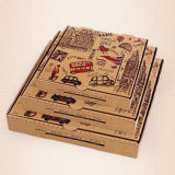 Wholesale Cheap Custom Printed Scooter E/B Flute Die Cut Corrugated Pizza Box for Take Away