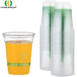 PLA Eco-Friendly Transparent Biodegradable Plastic Water Cup (HDP-6002)