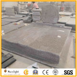 G664 of Pink/Brown Granite Tombstone of Red Cheap Monument